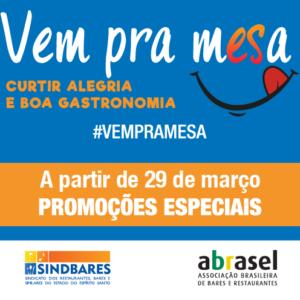 Campanha #VempramESa oferece promoções especiais em bares e restaurantes capixabas